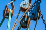 Taue und Rollen auf einem Krabbenkutter Neuharlingersiel